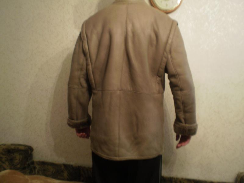 Дубленка светлая мужская размер 54